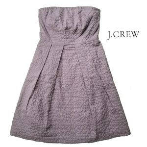 J. CREW LORELEI Strapless A Line Dress Deco Dot